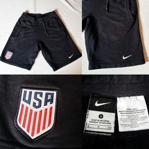 Nike Team USA Black Shorts with Swoosh and Embroid